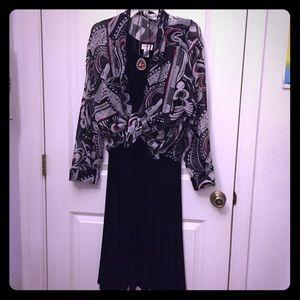 Chico's travelers black sleeveless dress